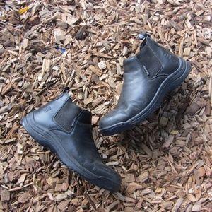 Skidbusters Black Slip Resistant Work Boots